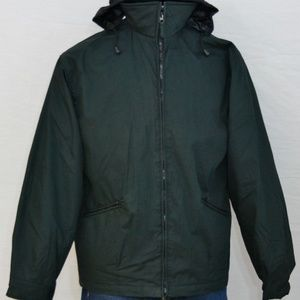 Green w Envy Italian Zip Deck Jacket L